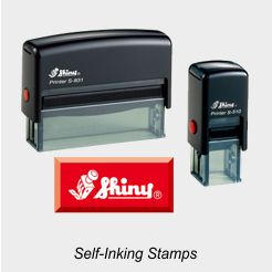 Shiny Printer Self-Inking Rubber Stamps