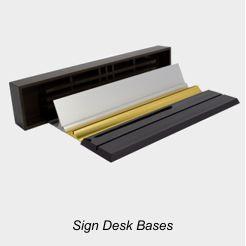 Nameplate & Sign Desk Bases