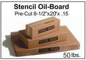 "Stencil Board - 6-1/2"" x 24"" - 50 lb pak, 620 Sheets"