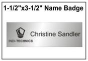 "Engraved Name Badge, 1.5"" x 3.5"""