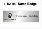 "Engraved Name Badge, 1.5"" x 4"""