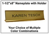 "1-1/2""x8"" Nameplate with Standard Holder"