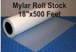 Mylar 18 inch x 500 feet roll stock