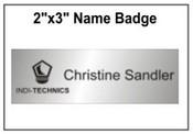 "Engraved Name Badge, 2"" x 3"""