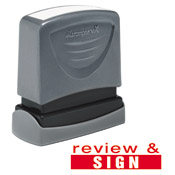 Teacher Stamp Review & Sign