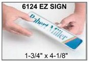 "6124 E-Z Sign Frame, 1-3/4""x4-1/8"", Square Corner