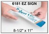 "6181 E-Z Sign Frame, 8-1/2""x11"", Square Corner