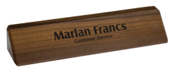 Laser Engraved Solid Walnut Desk Wedge