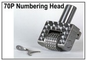 70P Steel Numbering Head