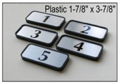 "9124 Designer Plastic Frame 1-7/8"" x 3-7/8"" Name Plate Designer Plastic Frame"