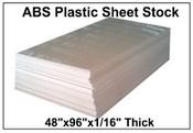 "48""X96"" 60 MIL ABS Blank Stencil Sheet"