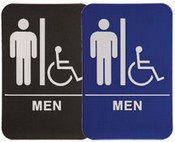 "MEN Handicap Stock ADA Sign, 6""x9""
