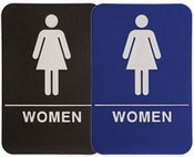 "WOMEN Stock ADA Sign, 6""x9""