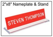 "Acrylic 2""x8"" Base and Name Plate"