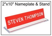 "2""x10"" Acrylic Base with nameplate"