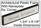 "1-3/4"" x 9-1/8"" Plastic Frame w/Name Plate"