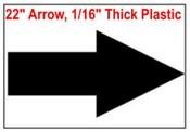 Arrow Stencil 22 inches wide x 11 inches high Arrow Sign symbol stencil