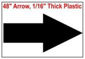 Arrow Stencil 48 inches wide x 24 inches high Arrow Sign Symbol Stencil