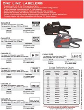 Prints One Line 9 Characters Model 9.25 Contact Premium Labeler