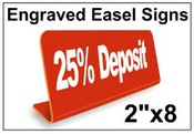 """2"""" x 8"""" Engraved Easel Tabletop Sign"""