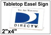 """2"""" x 4"""" Engraved Easel Tabletop Sign"""