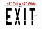 EXIT Federal Spec Stencil