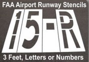 26.15 inch Dot FAA Stencil