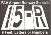 FAA Airport Runway Stencils