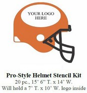 15' Pro Football Helmet Stencil Kit