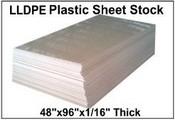 "48""X96"" 60 MIL LLDPE Plastic Sheet"