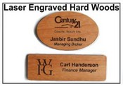 Wooden Name Tags or Badges Laser engraved Wood Badges Hard Wood Laser Engraved Badges