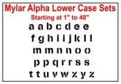 Mylar Alpha Lower Case Stencil Sets