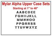 7.5 Mil Mylar Alpha Stencil Sets Stencil Number sets Mylar Alpha Stencil Sets