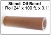 """Oil Board Roll .015 Point Oil Board Roll 24"""" x 100' x .015 Point Oil Board Roll"""