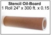 "24"" x 300' x .015 Point Oil Board Roll"