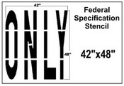 ONLY Federal Spec Stencil