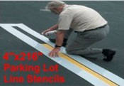 "Parking Line Stencil 4"" wide x 216"" long"