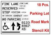 Parking Lot Stencil Kit Road Marking Stencil Kit