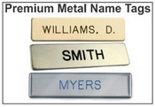 Metal Military Style Name Tags