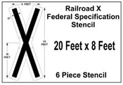 Federal Spec RAILROAD X Stencil