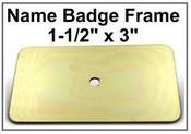 "1.5x3 Badge Frame Frame only Bright Yellow Badge Frame, 1.5""x3"""