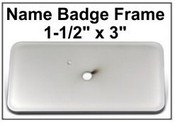 1.5x3 Badge Frame Frame only