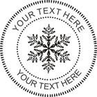 Custom Christmas Snowflake Embosser