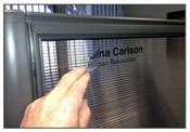 Static Cling Vinyl Name Plates