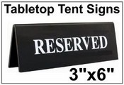 "3"" x 6"" Table Top Tent Sign"
